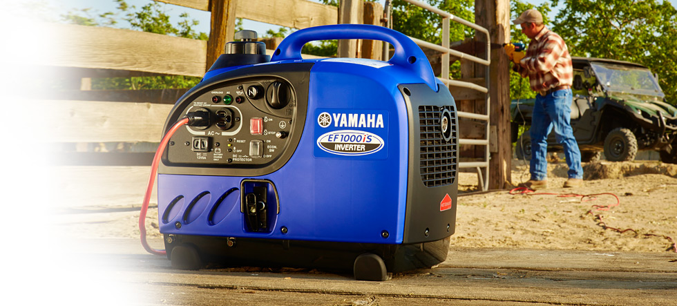 Yamaha ef1000is 1000 watt portable inverter generator for Yamaha generator ef1000is