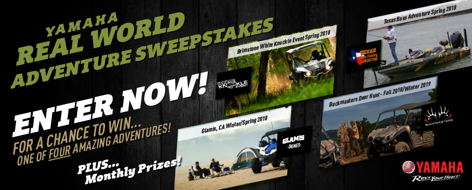 Yamaha Real World Adventure Sweepstakes